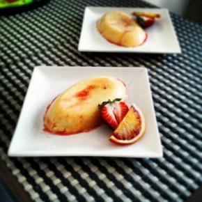 Coconut Bloodorange Custard