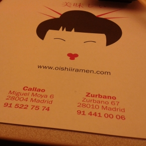 Oishii Ramen – Madrid (SPAIN)