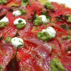 Valentine's Tuna Carpaccio