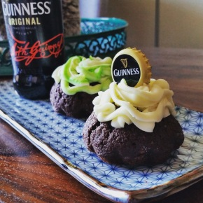 Guiness Cupcakes w. Whisky Frosting