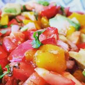 Mango-Avocado-Tomato Salad