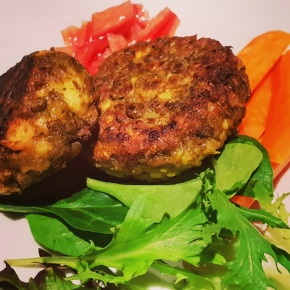 Pan Fried Falafel